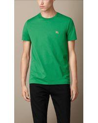 Burberry Liquid-Soft Cotton T-Shirt - Lyst