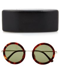 The Row Oversized Round-Framed Sunglasses - Lyst