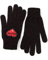 Diesel Logo Patch Gloves - Lyst