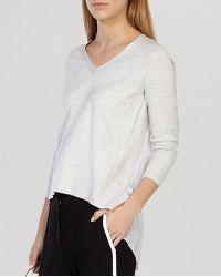 Karen Millen Sweater - Pleat Back Knit gray - Lyst