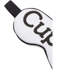 "Wildfox - ""cupid"" Breakfast At Noon Eyemask - White/black - Lyst"