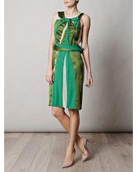 Bottega Veneta Twistneck Paneled Dress - Lyst
