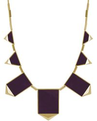 House of Harlow 1960 | Classic Staton Pyramid Necklace In Violet | Lyst