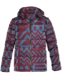 Burberry Brit - Basford Printed Down-Filled Coat - Lyst