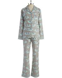 Munki Munki Flannel Penguin Pajamas - Lyst