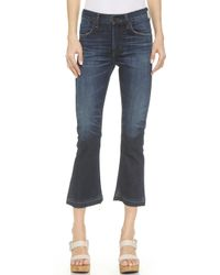 Citizens of Humanity Drew Cropped Flare Jeans - Waterfront - Lyst