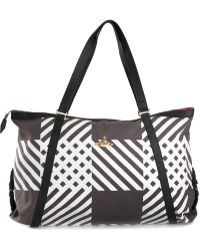 Vivienne Westwood Check Print Weekender Bag black - Lyst