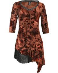 Izabel London Velvet Floral Print Dress - Lyst