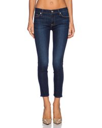 7 For All Mankind Mid Rise Ankle Skinny - Lyst