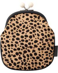 agnès b. - Leopard Coin Purse - Lyst