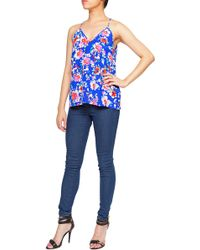 Yumi Kim | blue Double V Cami Silk Top | Lyst