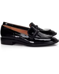 Robert Clergerie Black Leather Jokal Loafers - Lyst