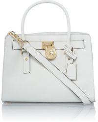 Michael Kors Hamilton White Medium Tote Bag - Lyst
