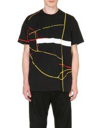 Givenchy Basketball Courtprint Tshirt Black - Lyst