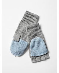 Gap Convertible Wool Mittens - Lyst