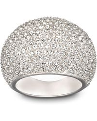 Swarovski Stone Crystal And Silver-Tone Ring Size 8 - Lyst
