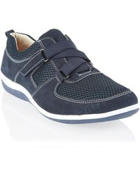 Dash Navy Velcro Mesh Sporty Shoe - Lyst