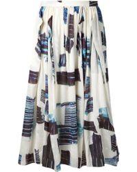 Tibi 'Origami Shirred' Skirt - Lyst