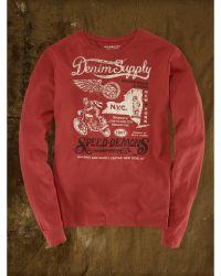 Denim & Supply Ralph Lauren Red Speed-demons Tee - Lyst