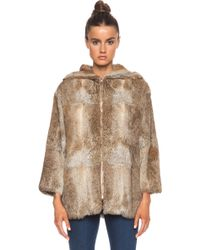 A.P.C. Burnou Fur Jacket - Lyst