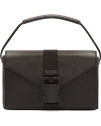 Christopher Kane Black Grained Leather Safety Buckle Bag - Lyst