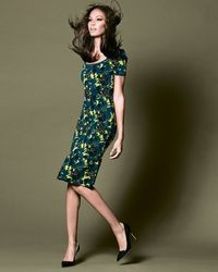 Zac Zac Posen Wren Floralprint Rufflehem Dress - Lyst