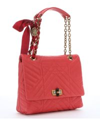 Lanvin Coral Quilted Leather 'Happy' Medium Shoulder Bag - Lyst