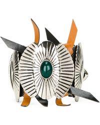 Toga - Buckled Shield Cuff - Lyst