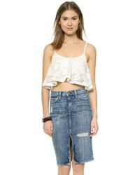 Lovers + Friends Delight Crop Top - Ivory - Lyst