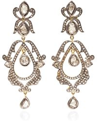 Kirat Young - Diamond Chandelier Earrings - Lyst