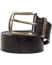 Diesel 40mm Graffiti Lasered Leather Belt - Lyst