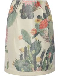 Matthew Williamson Printed Cotton and Silk Blend Skirt - Lyst