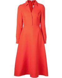 Valentino Vneck Shirt Dress - Lyst