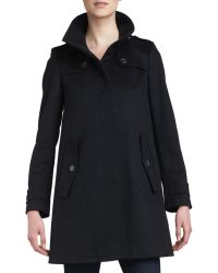 Burberry London Singlebreasted Swing Coat Black 12 - Lyst