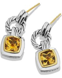 David Yurman Renaissance Drop Earrings with Citrine and Gold - Lyst