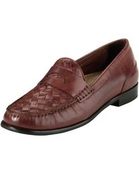 Cole Haan Laurel Woven Leather Moccasin - Lyst