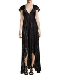Zadig & Voltaire Printed V-Neck Maxi Dress - Lyst