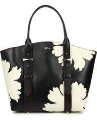 Alexander McQueen Legend Small Multicolor Floral Tote black - Lyst