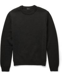 Jil Sander Wool Bubbleknit Sweater - Lyst