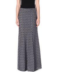 Missoni Knitted Maxi Skirt Blue - Lyst