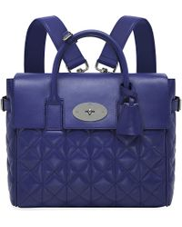 Mulberry Cara Quilted Nappaleather Backpack Indigo - Lyst