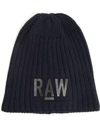 G-star Raw Original Beanie Navy Hat - Lyst
