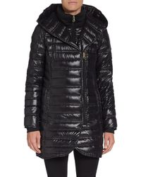 French connection Hooded Puffer Coat - Lyst
