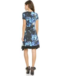 Just Cavalli Floral Dress  Blue - Lyst