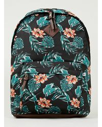 Topman Tropical Printed Backpack - Lyst