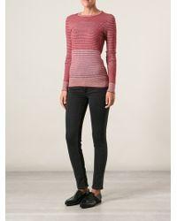 Current/Elliott Charlotte Gainsbourg Jacquard Sweater - Lyst