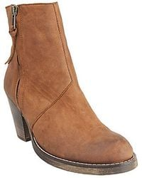 Steve Madden Paradoxx Leather Booties - Lyst