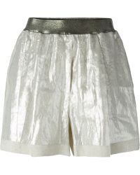 Nude - High Waist Shorts - Lyst