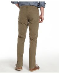 Tailor Vintage - Army Green Cotton Straight Leg Trousers - Lyst
