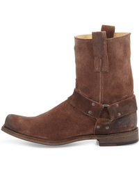 Frye Smith Suede Harness Boot - Lyst